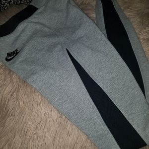 NIKE gray and black high waisted leggings